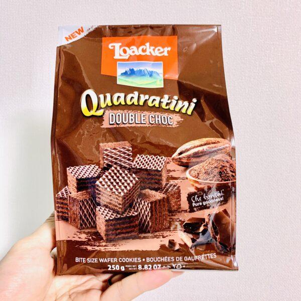 【カルディ】Loacker(ローカー) ウエハース クワドラティーニ ダブルチョコのレビュー!