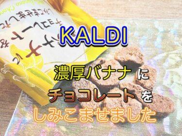 【カルディ】「濃厚バナナにチョコレートをしみこませました」レビュー!