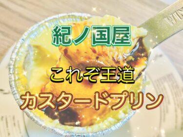 【紀ノ國屋】ほろ苦いカラメルソースたっぷり!「カスタードプリンのレビュー」